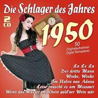 DIE SCHLAGER DES JAHRES 1950 2 CD NEU