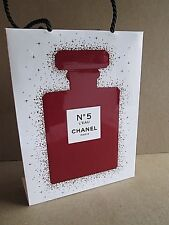 CHANEL PARIS NO 5 L'EAU RED PERFUME BOTTLE HOLIDAY 2018 PAPER BAG VERY RARE
