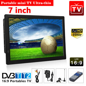 """UK 7"""" Inch Portable 1080P Ultra-HD TV Freeview HDMI Digital Television Player"""