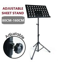 NEW ADJUSTABLE FOLDING HEAVY DUTY PROFESSIONAL STAGE MUSIC SHEET STAND  AU STOCK