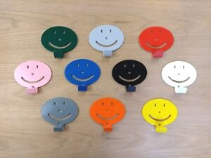 Childrens Coat Hooks - emoji smiley face - mix and match colours - Great fun