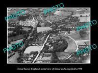 SURREY Pre-M25 1964 vintage map chart Woldingham New Oxted Limpsfield