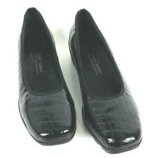 Josef Siebel Womens Sz 9 9.5 Black Croco Patent Leather Airpad Plus Comfort Shoe
