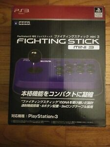 Hori Fighting Stick Mini 3 Violet Blue Japanese Retail Box and Stick works USA