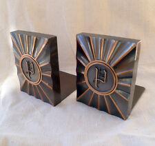 ~ SET of vintage Hyde Park Copper BOOKENDS ~ initial letter P