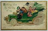 Old Divided Back Postcard 1909 Nothing Slow For The Like Of Us Ellen Clapsaddle