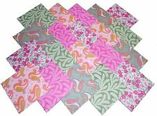"""40 5"""" Quilting Fabric Squares PRETTY PINKS AND GREENS/BUY IT NOW!!!"""