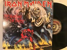 IRON MAIDEN - NUMBER OF THE BEAST LP 1982 1ST PRESS VINYL Harvest ST-12202 VG