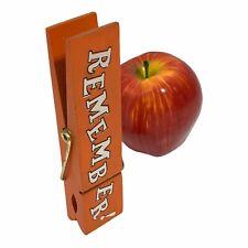 """Vintage Refrigerator Magnet Clip Wood Wooden Chip Bag Clip 6"""" Made in Japan"""
