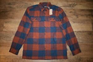 Patagonia Men's Organic Cotton Fjord Flannel Shirt 42400 Size M Smolder Blue NWT