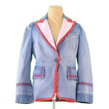 Francesco Biasia Coats Jackets Blue Red Woman Authentic Used L2297