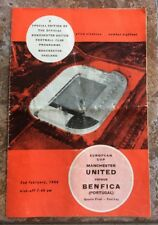 Manchester United v Benfica European Cup Qtr Final 1966 Official programme