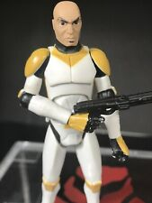 Star Wars Clone Wars Ryloth Waxer Trooper 327th Corps Yellow Rare Action Figure