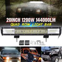 20'' Quad-row LED Work Light Bar Flood Spot Combo Offroad Truck SUV Boat Lamp