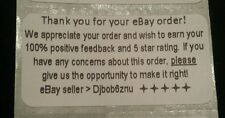 """eBay Thank You For Your Order Labels Stickers 2"""" X 1"""" ☆ printed with your ID☆100"""