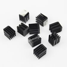 2pcs 9x9x12mm adhesive Aluminum Memory Chip IC Cooling Cooler Heat Sink Black