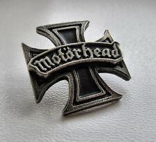 MOTORHEAD - Iron Cross - Metal Pin / Girlschool Discharge Warfare Accept Raven