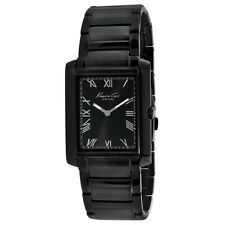 New Kenneth Cole KC9186 Slim Band and Case Black Roman Numbers Dial Men's Watch