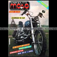 LE MONDE DE LA MOTO N°126-b SUZUKI DR 600 KAWASAKI KLR 250 BMW R100 RT EML 1985