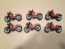 Lego motorcycle Lot of 6 Harley Davidson motorcycles minifig accessories S458