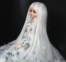 """7-8"""" 1/4 BJD Snow White Bangs Lovely Princes Long Wig LUTS Doll SD DZ DOD MSD"""