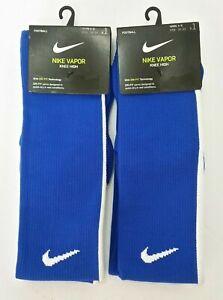 2-Pack Nike Dri-Fit Vapor Knee High Socks Football Soccer Blue / Red Women 4-6