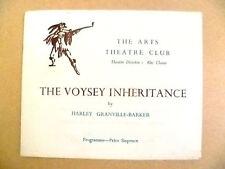 Arts Theatre Programme- THE VOYSEY INHERITANCE by Harley Granville Barker