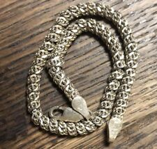 Round Tube Style 925 Sterling Silver Chain Bracelet