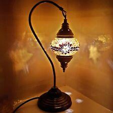 Turkish Marocain Coloré Mosaïque Lampe Feux Tiffany Verre Bureau Vendeur Anglais