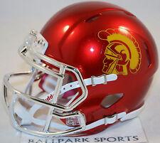 USC TROJANS (CHROME) Riddell Speed Mini Helmet