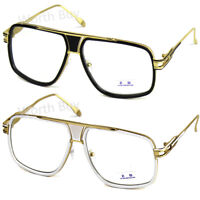 DMC Retro Vintage Gazelle Clear Lens Frame Eyeglasses Fashion Oversized Hip Hop