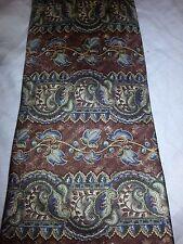 Brown Blue Gold Green Floral KHASUAL TIE Necktie USA 100% Silk EUC