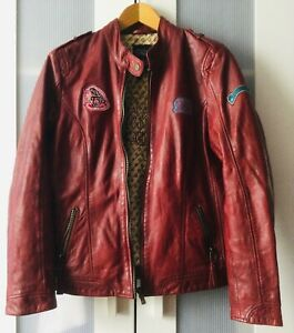 Mauritius Lederjacke Jacke Damen Gr. XL  42 - 44 Rot weiches Echtleder