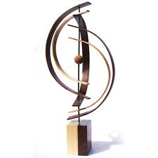 Modern Wood Sculpture Natural Wood Elegant Home Decor Contemporary Wooden Art