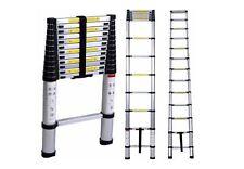 Telescoping Ladder Attic Loft Stairs Aluminum Extension Extendable Portable