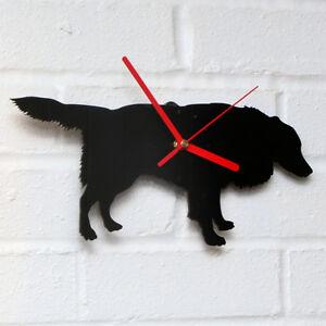 BLACK BORDER COLLIE Shaped Modern Wall Clock Bedroom Home Decor Gift