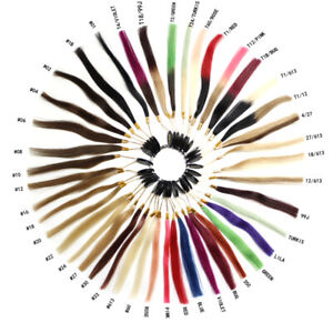 Color Ring Color Chart 43 Colors Sample for Human Hair Extensions Colour Matchs