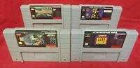 Speedworld Lawnmower Batman Jungle Book *Authentic* Super Nintendo SNES Game Lot