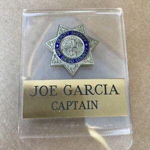 deputy sheriff San Diego County Joe Garcia captain
