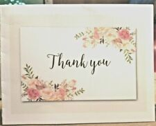 """KITTY'S NOTE CARDS - Set of 10 + Envelopes- """"Thank You Roses"""""""