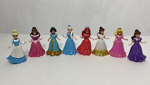 Disney Princess Magic Clip Lot of 8 Polly Pocket Dolls