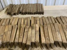 "60  Wooden pegs/stakes, Site edging stakes, 12"" long pegs treated pointed 4 way"