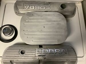 1966-1970 Ford Mustang GT350 289 302 351W Cobra Valve Covers W Speedway Air Clnr