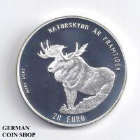 Schweden 20 € 1996 Elch Polierte Platte PP Silber - Sweden Elk