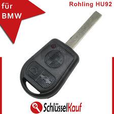 BMW Auto Schlüssel 3 Tasten Fernbedienung HU92 Rohling E36 E38 E46 E39 Z3 Neu