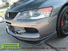 06-07 Mitsubishi Lancer EVO 9 IX Carbon Fiber CF VR Style Front Bumper Lip