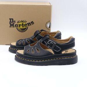 Size 8 Women's Dr. Martens Castillo Fisherman Sandals 25681001 Black/Grizzly