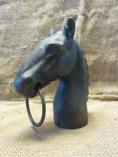 Vintage Cast Iron Horse Finial > Antique Old Garden Mounting Post Finials 9804