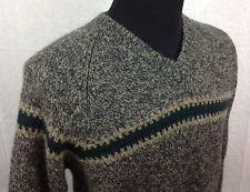 Abercrombie & Fitch XL Men's 100% Wool V-Neck Sweater Charcoal Gray