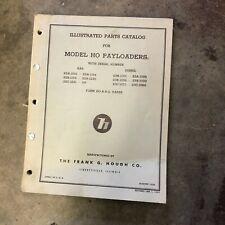 Payloader Model Ho Hough Parts Catalog 23a B C